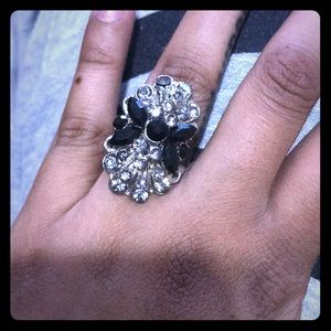 Black & Diamond Statement ring